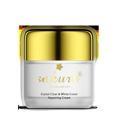 Kem Dưỡng Trắng Chống Lão Hóa Làm Khỏe Và Phục Hồi Da Ban Đêm Sakura Crystal Clear & White Cream Repairing Cream